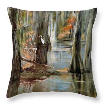 Serenity In The Swamp Throw Pillow