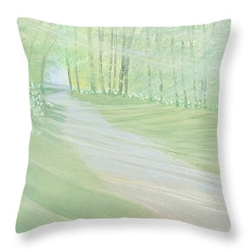 Serenity Throw Pillow by Joanne Perkins