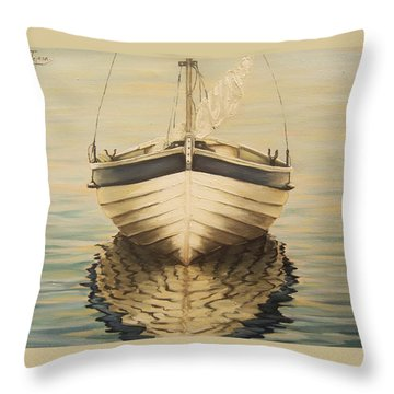 Serenity Throw Pillow by Natalia Tejera