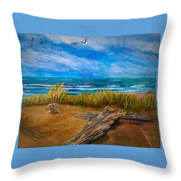 Serenity On A Florida Beach Throw Pillow