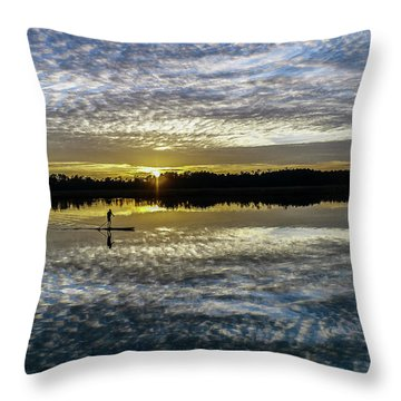Serenity On A Paddleboard Throw Pillow