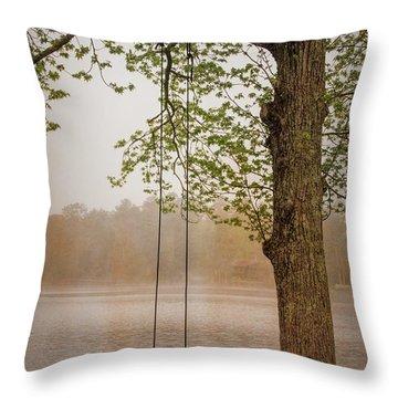 Serenity On The Lake Throw Pillow