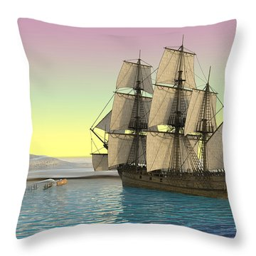 Serenity Point Captured Throw Pillow