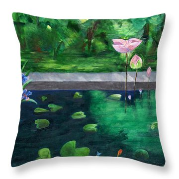 Serenity Pond Throw Pillow