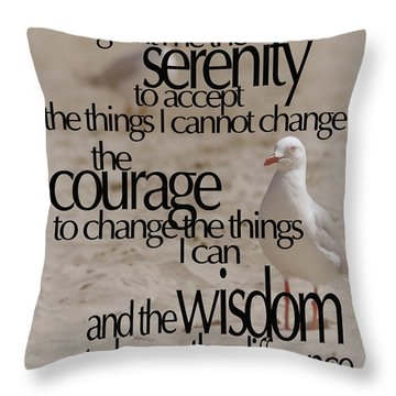 Serenity Prayer 01 Throw Pillow by Vicki Ferrari