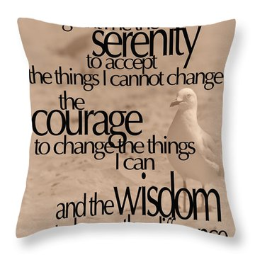 Serenity Prayer 04 Throw Pillow by Vicki Ferrari