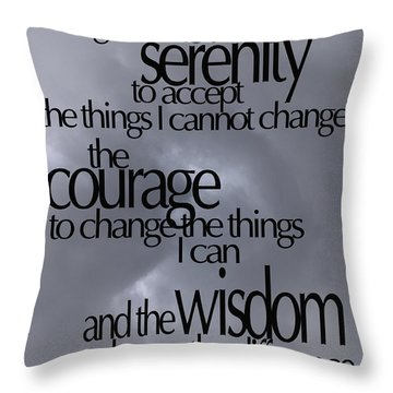 Serenity Prayer 05 Throw Pillow by Vicki Ferrari