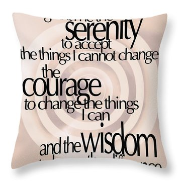 Serenity Prayer 06 Throw Pillow by Vicki Ferrari