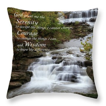 Throw Pillow featuring the photograph Serenity Prayer by Dale Kincaid