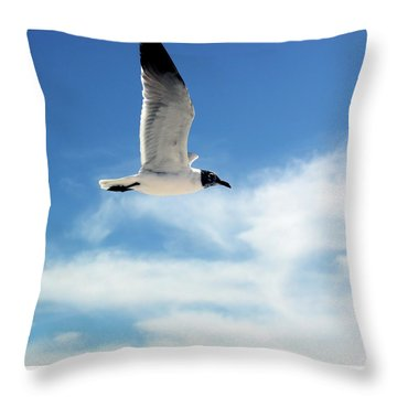 Serenity Seagull Throw Pillow