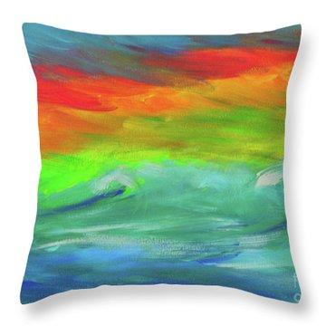 Serenity Sunrise  Throw Pillow