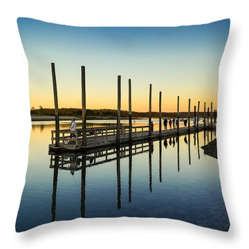 Serenity Sunset Kings Park New York Throw Pillow