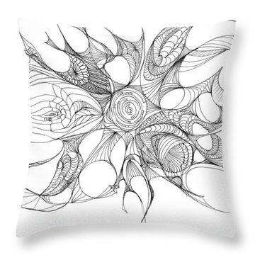 Serenity Swirled Throw Pillow