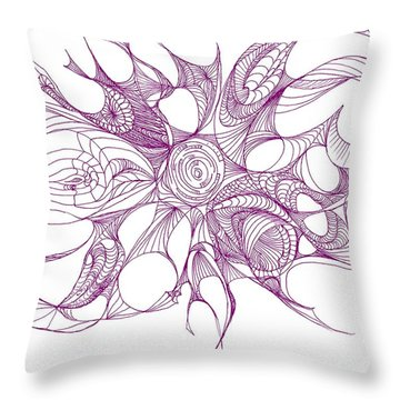 Serenity Swirled In Purple Throw Pillow