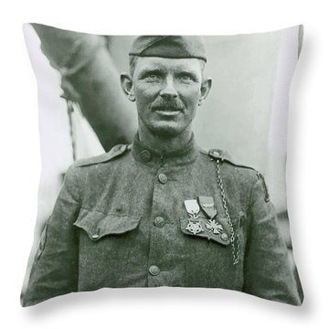 Sergeant Alvin York Throw Pillow by War Is Hell Store
