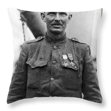 Sergeant York - World War I Portrait Throw Pillow