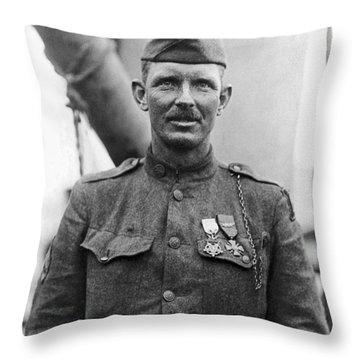Sergeant York - World War I Portrait Throw Pillow