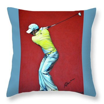 Sergio Garcia By Mark Robinson Throw Pillow by Mark Robinson