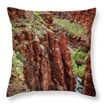 Serious Crags Throw Pillow