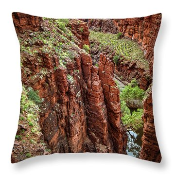 Serious Crags Throw Pillow