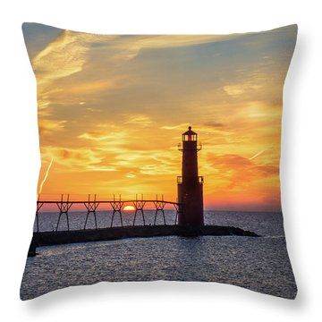 Throw Pillow featuring the photograph Serious Sunrise by Bill Pevlor