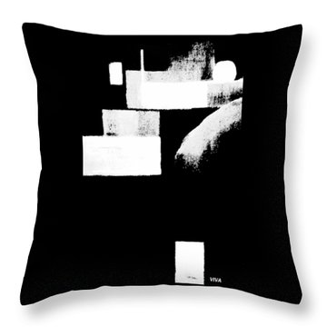 Seriously Black And White Throw Pillow