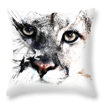 Seriously Cougar Throw Pillow