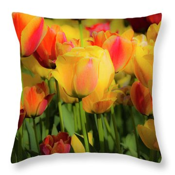 Throw Pillow featuring the photograph Seriously Spring by Wendy Wilton