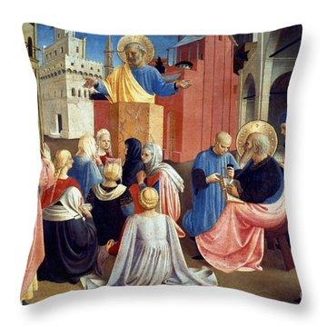 Sermon Of St Peter Throw Pillow by Granger