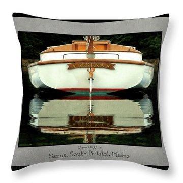 Serna, South Bristol, Maine  Throw Pillow by Dave Higgins
