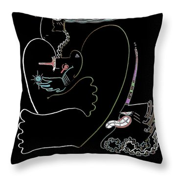 Serpent Moon Throw Pillow