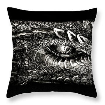 Serpentine Throw Pillow by Catherine Melvin