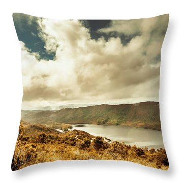 Serpentine Dam Tasmania Throw Pillow
