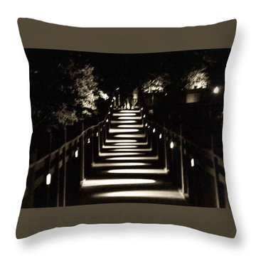 Serpentine Shadow Throw Pillow