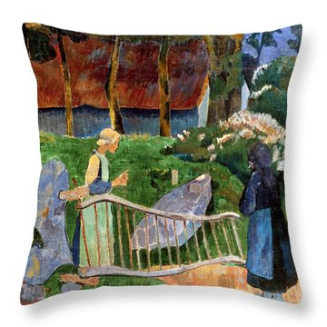Serusier: Barriere, 1889 Throw Pillow by Granger