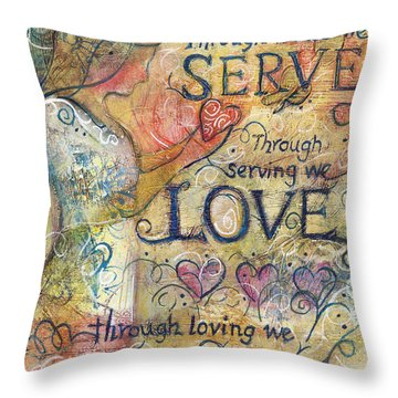 Serve Love Create Throw Pillow