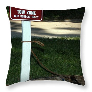 Throw Pillow featuring the photograph Service Vehicles Only by Wanda Brandon