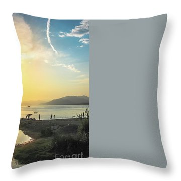 Sestri Levante Baia Delle Favole Throw Pillow