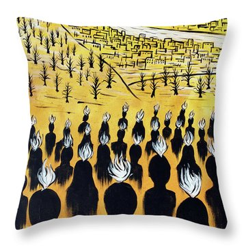 Throw Pillow featuring the painting Set Ablaze by Nathan Rhoads