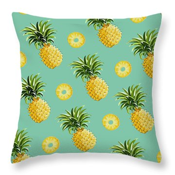 Set Of Pineapples Throw Pillow