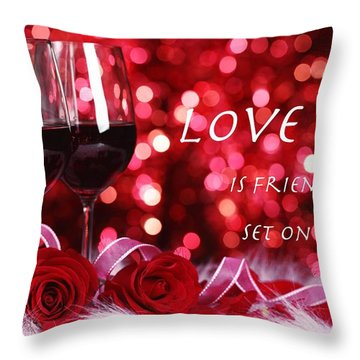 Set On Fire Throw Pillow by David Norman