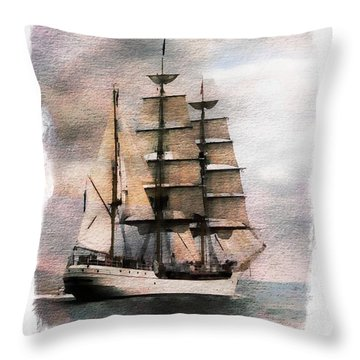 Throw Pillow featuring the painting Set Sail by Aaron Berg