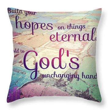 Set Your Mind On The Things That Are Throw Pillow