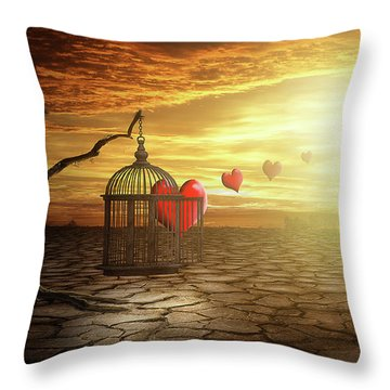 Throw Pillow featuring the digital art Set Your Self Free by Nathan Wright
