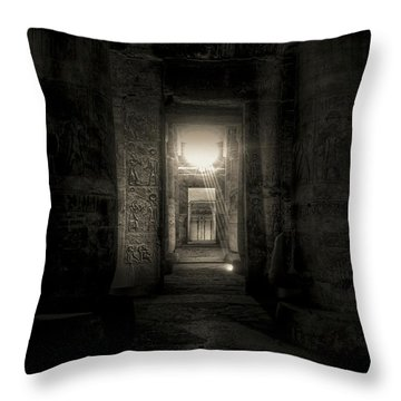 Seti I Temple Abydos Throw Pillow