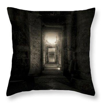 Seti I Temple Abydos Throw Pillow by Nigel Fletcher-Jones