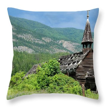 Throw Pillow featuring the photograph Seton Portage Church 2 by Rod Wiens
