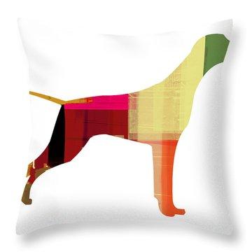 Setter Pointer Throw Pillow by Naxart Studio