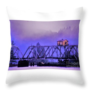 Setting High Above Throw Pillow