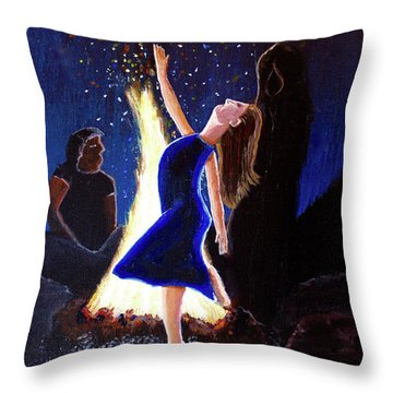 Setting On Fire Throw Pillow